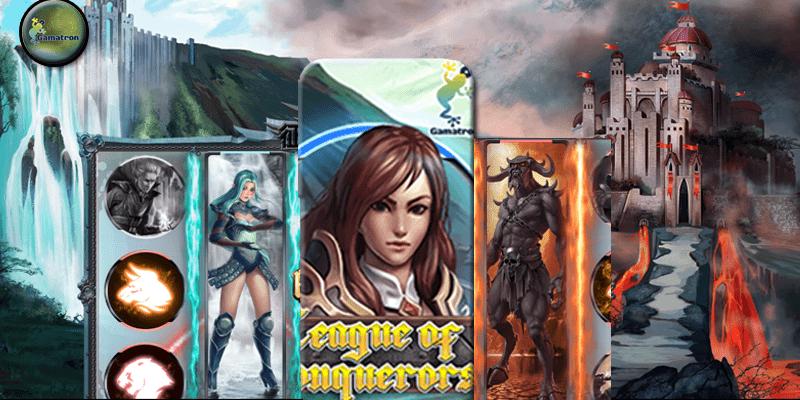league of conquerors เกมสล๊อตออนไลน์ที่น่าเล่น gamatron slot