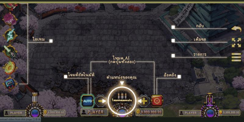 เครื่องมือต่างๆ ภาย ในเกม Tokyo Kombat