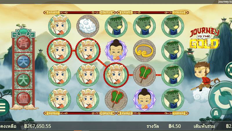 รูปแบบเกม Journey to the Gold gamatron slot