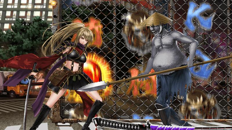 ฟีเจอร์ AMURAT GIRL ตัวคูณการฟาดฟันซอมบี้ ในเกม samurai girl