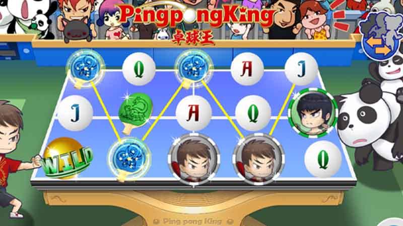 ฟีเจอร์ฟรีสปิน ping pong king gamatron